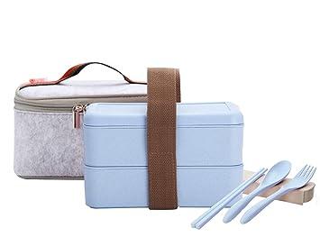 Amazon.com: Fiambrera portátil a prueba de fugas con bolsa ...