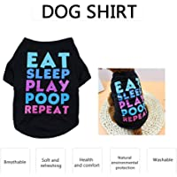 Decdeal Dog Shirt Dog T-Shirts Dog Spring Summer Clothes Printed Pet Clothing Pet Summer Clothes for Puppy Dogs
