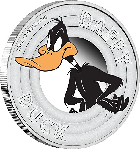50 Cent Proof Coin - 2018 TV Looney Tunes PowerCoin DAFFY DUCK Silver Coin 50 Cents Tuvalu 2018 Proof