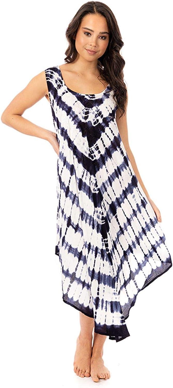 undercover lingerie Ladies Sleeveless Tie Dye Summer Dresses Beach Holiday Dress