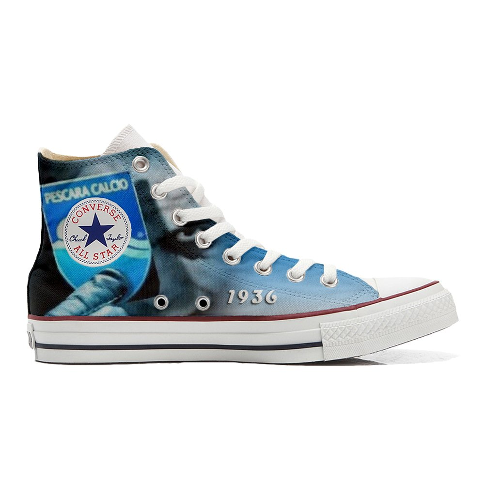Mys Converse (Gedruckte All Star Hi Customized personalisiert Schuhe Unisex (Gedruckte Converse Schuhe) Italian Soccer - 27e0ad