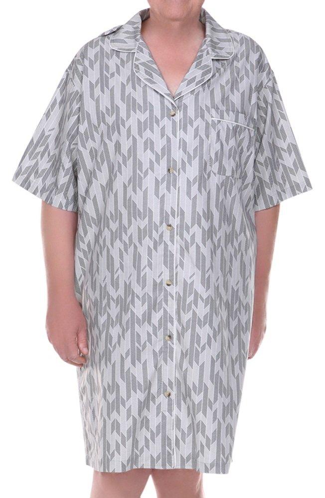 Home Care Line Dignity pajamas Mens Cotton Short Sleeve Open Back Hospice Pajamas Sz L-XL by Dignity Pajamas