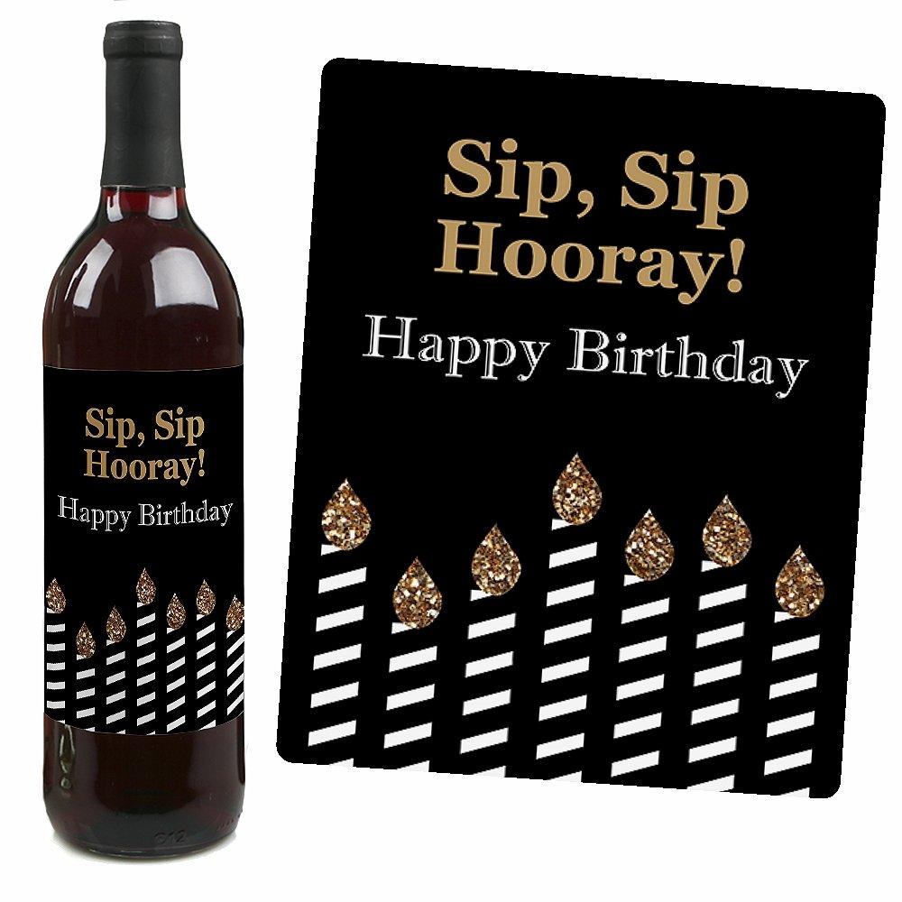 Amazon Adult 80th Birthday Gold Wine Bottle Labels Birthday