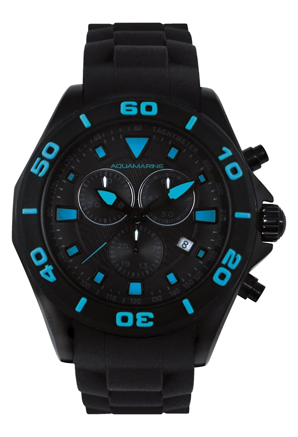 Aquamarine Herrenuhr Chrono schwarz-blau – Kollektion Summer 2016