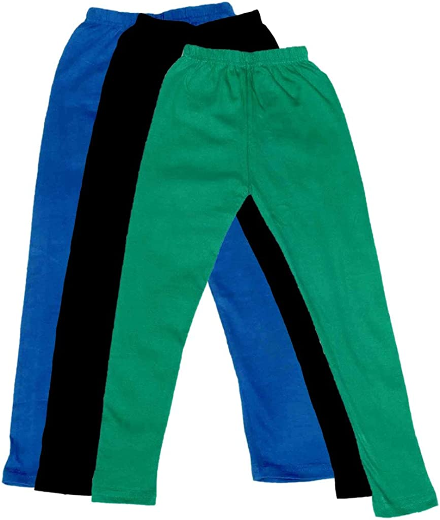Indistar Boys Super Soft Ankle Length Cotton Lycra Leggings Pack of 3