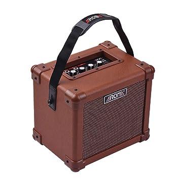 muslady amplificador para guitarra acústica 10 W portátil altavoz aroma ag-10 a con entrada