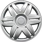 OxGord HC-61104-15SL-SNGL 15 inch Silver Hubcap Single