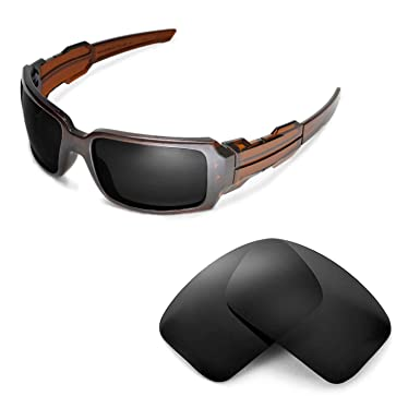 bc89583870 Walleva Replacement Lenses for Oakley Oil Drum II Sunglasses - Multiple  Options (Black - Polarized)  Amazon.co.uk  Clothing