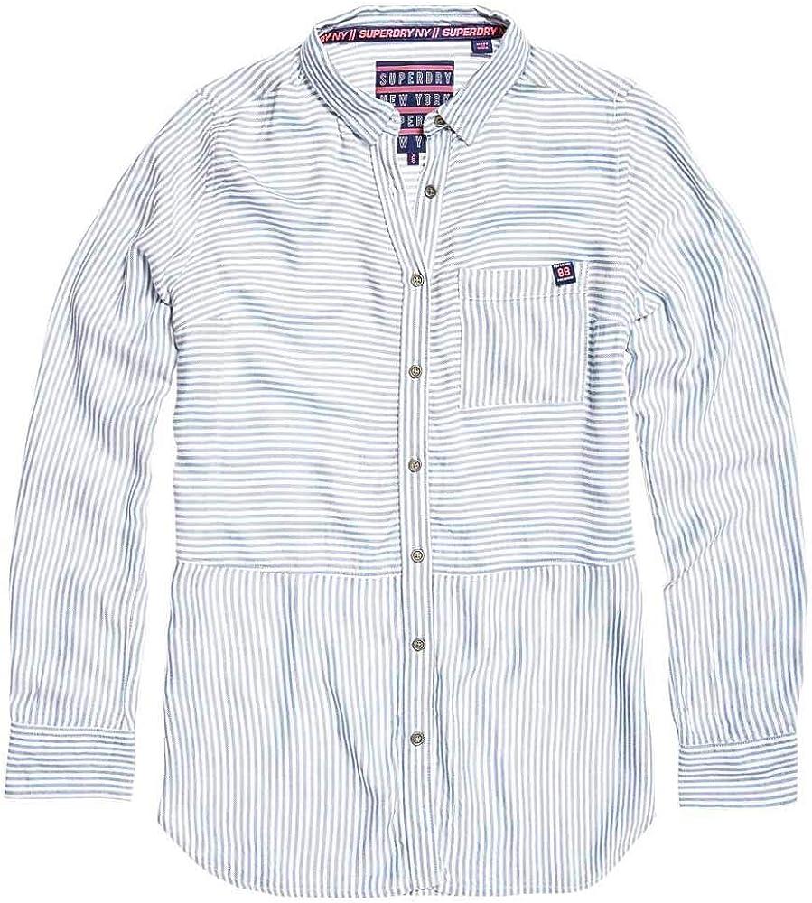 Superdry Tatum Stripe Camiseta Mujer Blue/White Stripe XS: Amazon.es: Ropa y accesorios