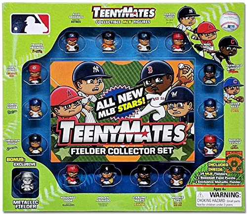Party Animal Teenymates 2019 MLB Series 6 - MLB Fielder Player Mini Figures Collector Set 14 Players Plus Rare Exclusive Minifigure