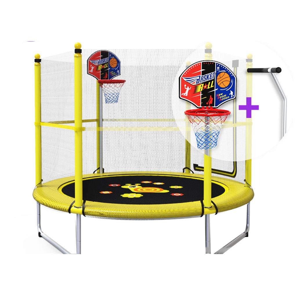 Indoortrampoline Trampolin Heimkindertrampolin Indoor Baby-Sprungbett Fitness für Erwachsene Gewichtsverlust mit Schutznetz Familienunterhaltung Trampolin Plus Handläufe, hohe Belastung