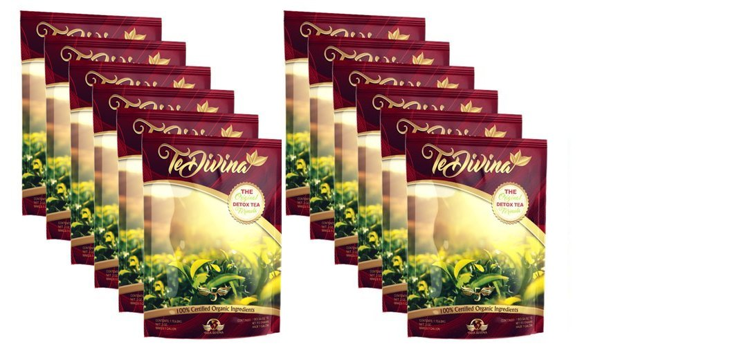 Tedivina 12 packs deal,Tedivina detox tea Natural Weight Loss Detox Tea, Reduce Bloating, Promote Fat Loss, Control Appetite & Detoxify the Body - Antioxidant-Rich 100% Natural Tea