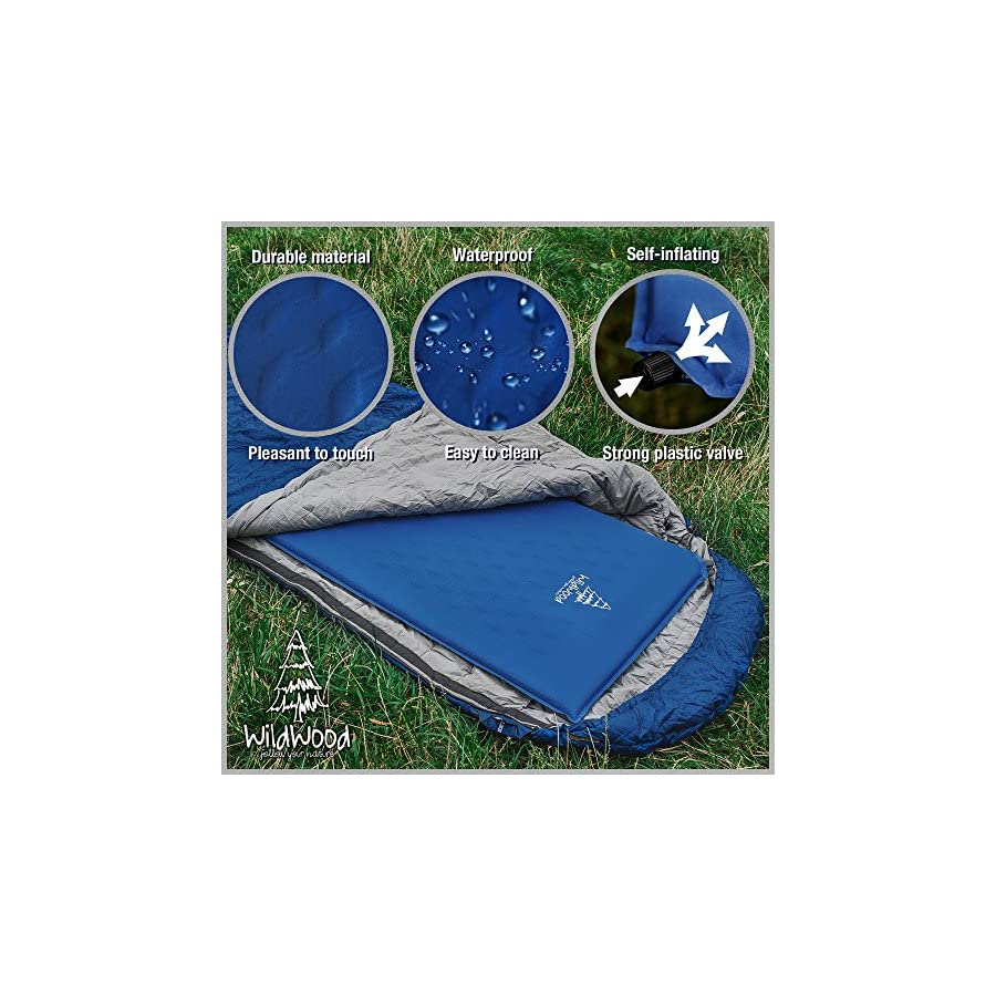 Camping Pad Premium Inflatable Sleeping Mat Comfy Insulation Sleep Foam Easy to Use Great for Man Women Outdoor Hiking Backpacking by WildWood