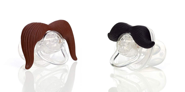 Hipsterkid BPA Free Mustachifier for Kids 0-48 Months in Gentlemen Black