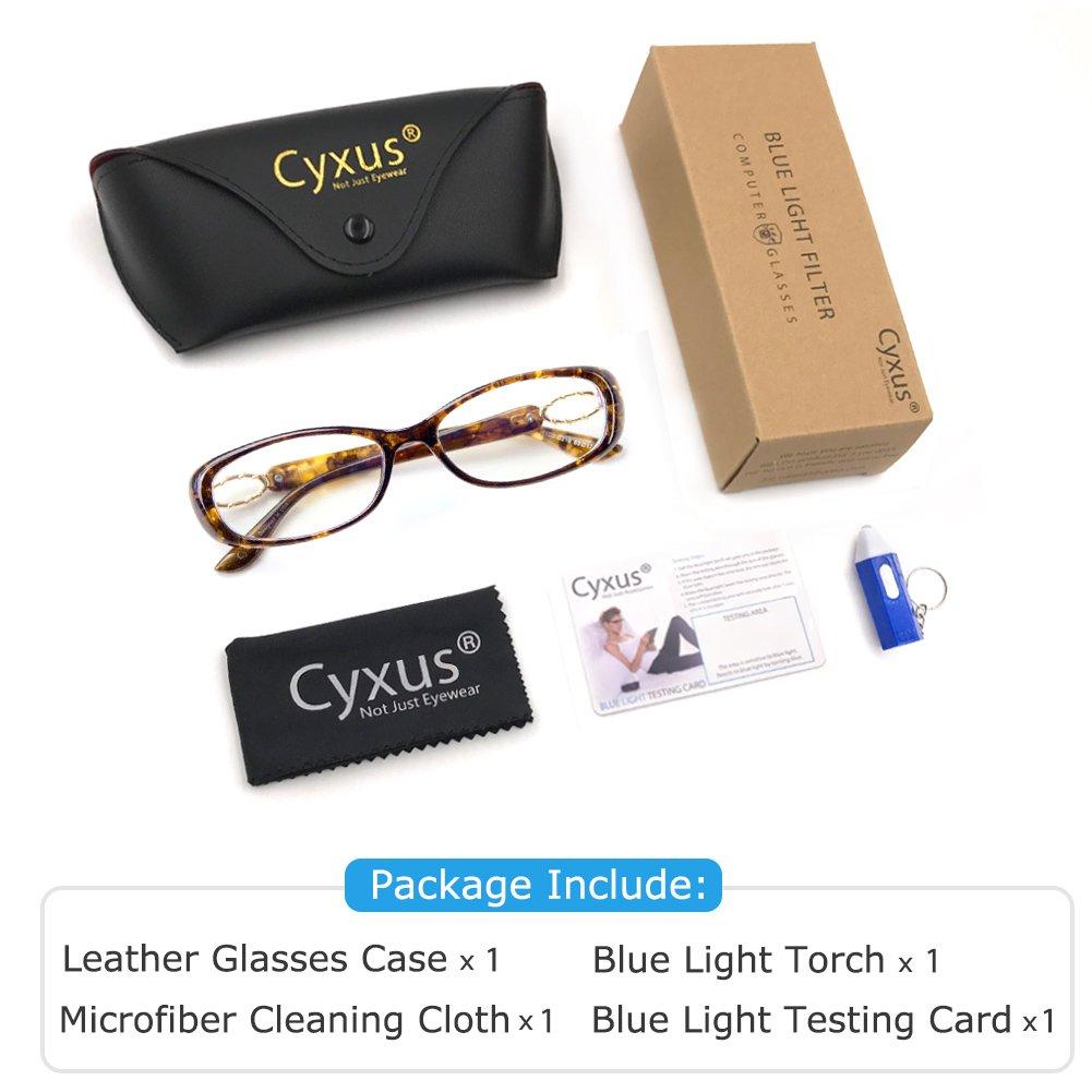 0d5a46445e Amazon.com  Cyxus Blue Light Filter Computer Glasses