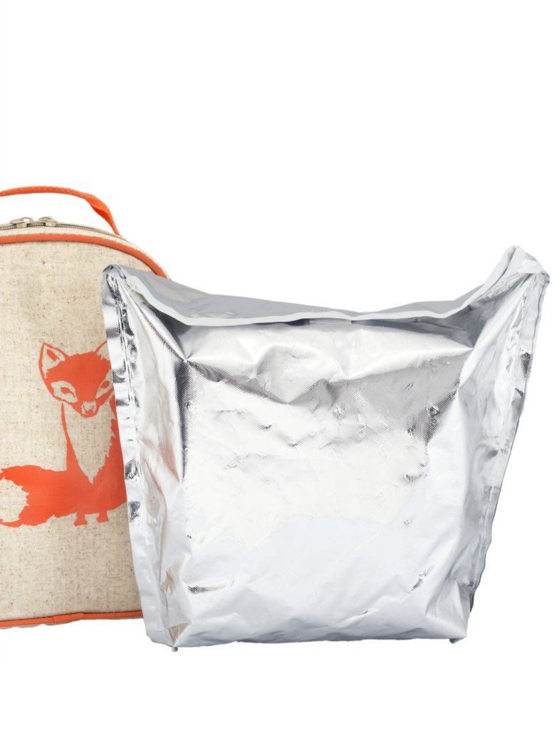 SoYoung Toddler Lunch Box Fox - Raw Linen, Orange