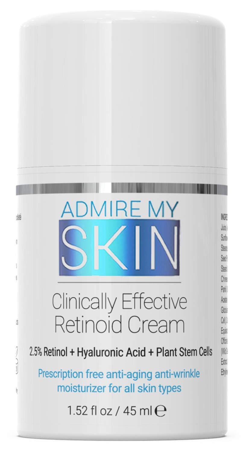 Potent Retinoid Cream Provides Clinical Retinol Results Without A Prescription - The Most Effective Retinoic Acid Moisturizer For Acne & Wrinkles Will Provide You With That Youthful Glow by Admire My Skin