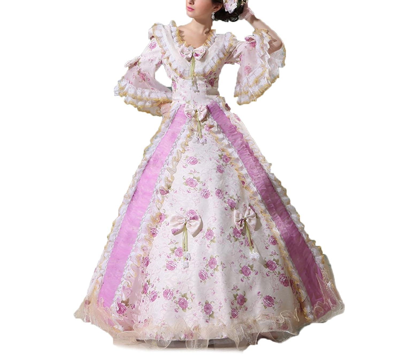 貴族お嬢様風 洋装ワンピース 中世ヨーロッパ系 プリンセス  王女様 ドレス  ワンピース  パニエ付き 二次会 B075VR5SLX   スタンダードサイズ