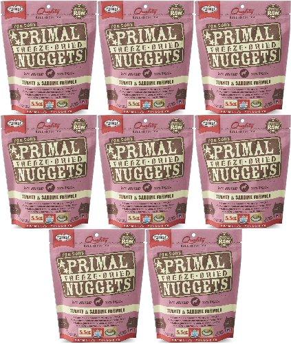 Primal Freeze-Dried Nuggets Turkey & Sardine Formula for Dogs 44oz (8 x 5.5oz)