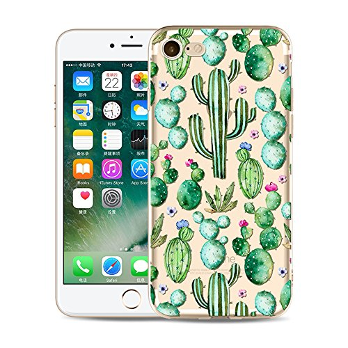 Design Silicone Protective Case - iPhone 7 Case,iPhone 8 Case, Protective Transparent Clear TPU Case for 4.7