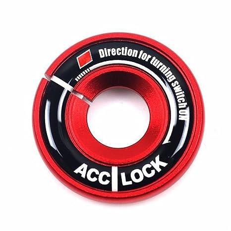 Ojo de la llave del encendido para coches Cogeek, anillo decorativo, funda de tapizado
