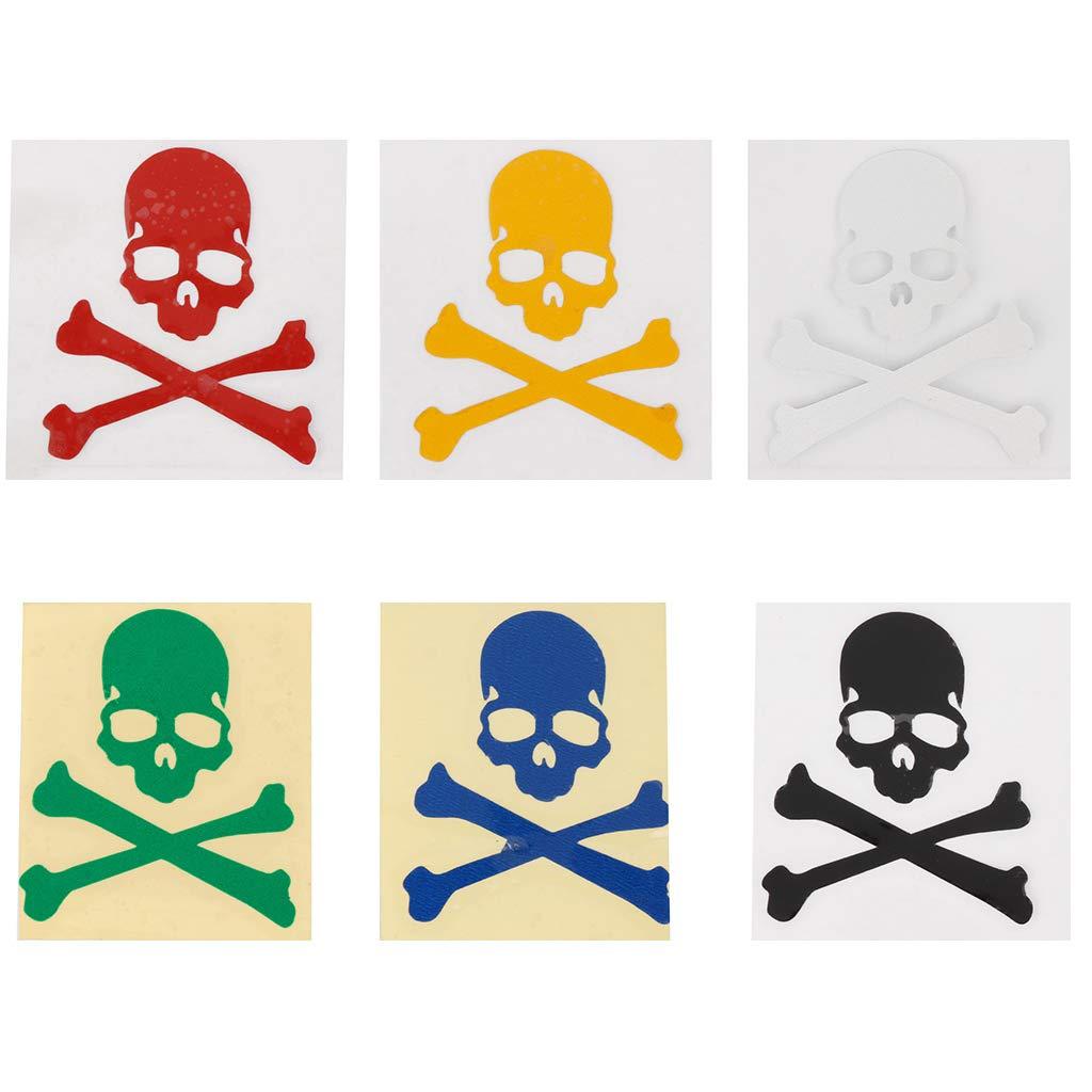 Hergon R/éfl/échissant Cr/âne Stickers Autocollants Lumineux Casque De V/élo DIY V/élo V/élo VTT Route VTT Vitesse Fixe Squelette Autocollants Rouge