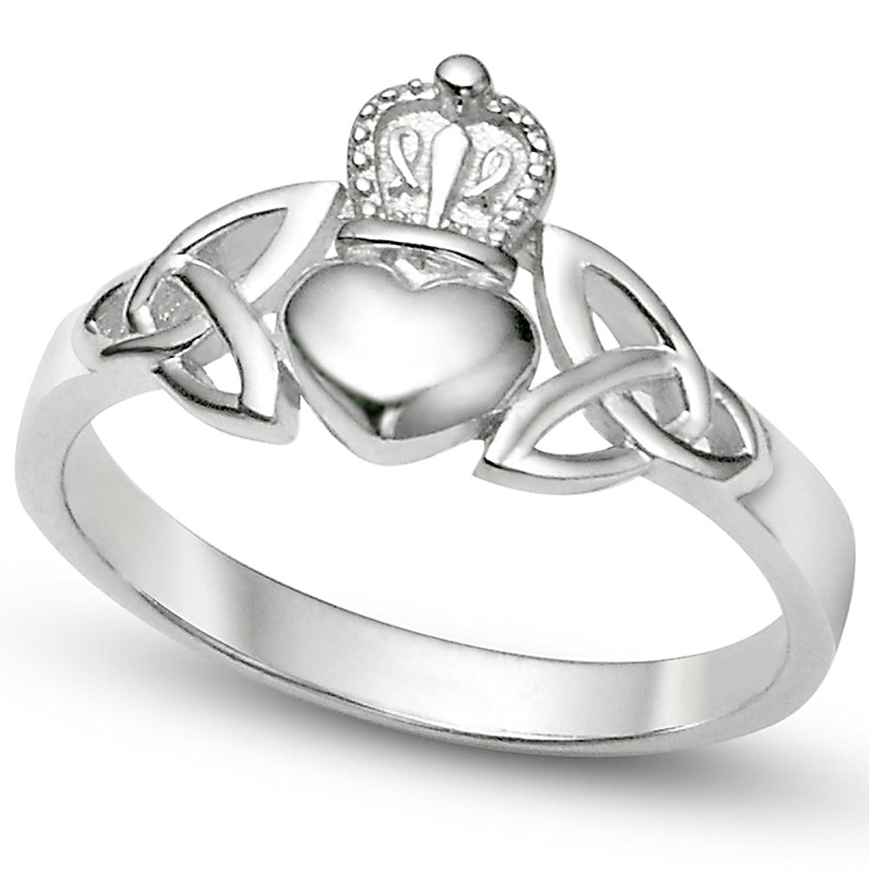 Amazon Zealmer Claddagh Ring Round Heart Shape Rhinestone