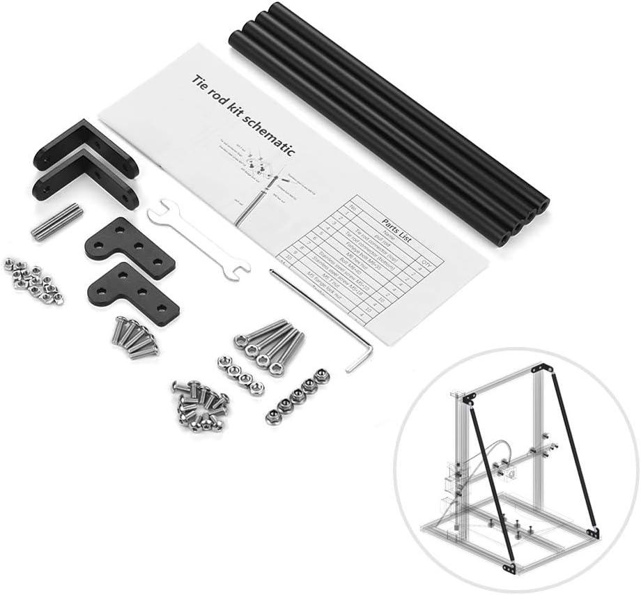 Aibecy Kit de varilla de tracción de soporte de perfil de aluminio Piezas de la impresora 3D Accesorios para Creality 3D CR-10 / CR-10S / CR-10S4
