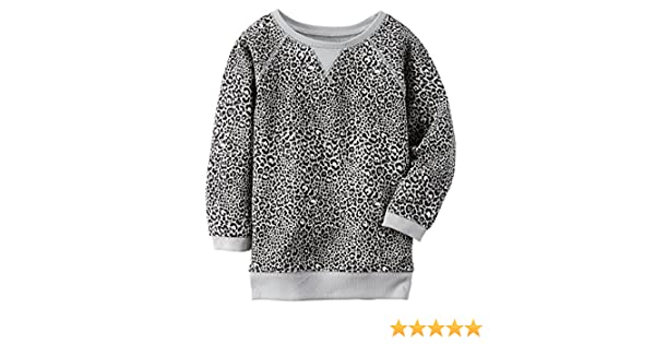 54f8e9ea105 Amazon.com  Carters Little Girls  Leopard Boatneck Sweater (2T)  Clothing