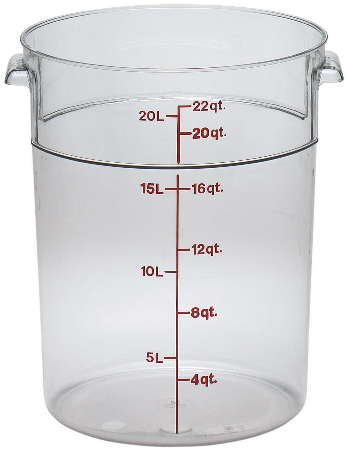 Amazoncom Cambro Round 6 Quart Storage Container Clear Food
