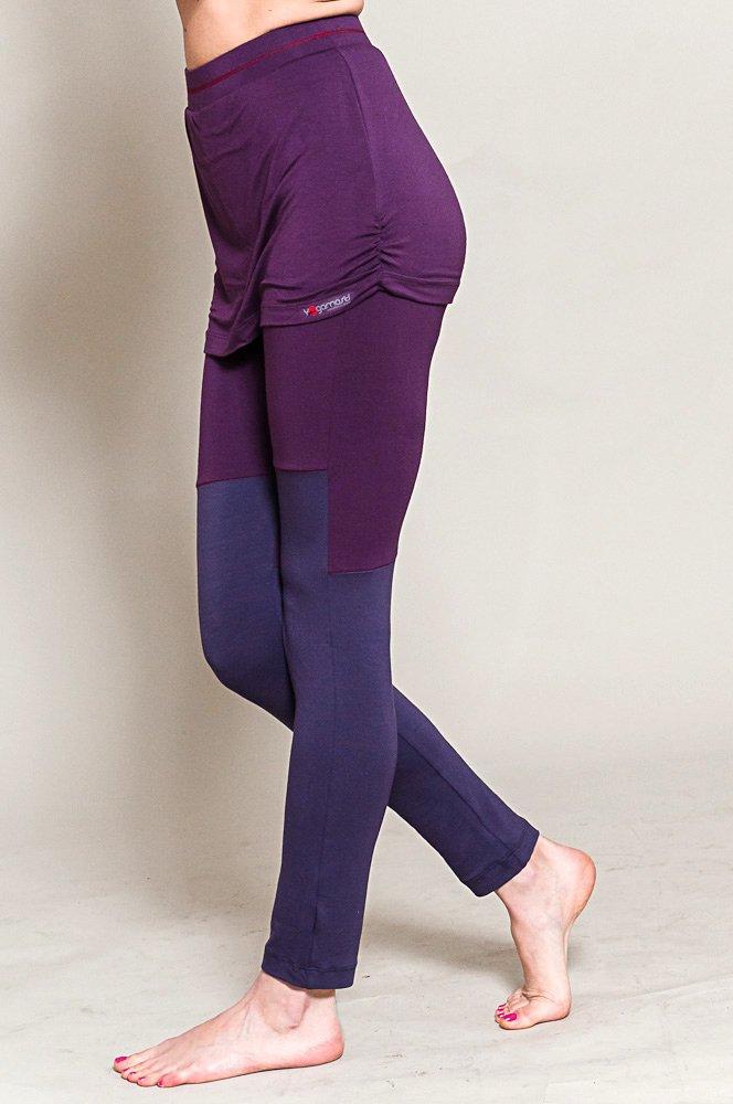 Yogamasti Yoga Falda Leggings, Purple Chakra, Color Violeta ...