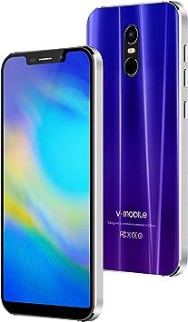 Moviles Libres Baratos 4g,V Mobile 5S Smartphone de 5,85 Pulgadas 32GB ROM 3GB RAM 4800mAh Batería,Teléfono Móvil Dual SIM Cámara 12MP Face ID, Quad-Core Móviles y Smartphones Libres (Morado): Amazon.es: Electrónica