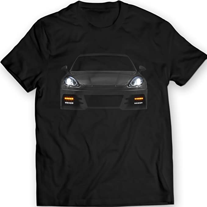 Porsche Panamera 2012 Turbo T-Shirt 100% Cotton (XXL, Black)
