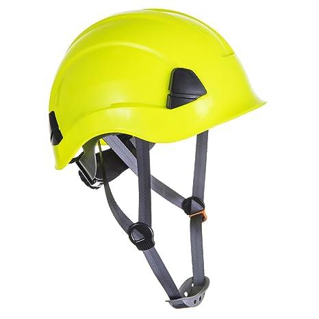 Portwest PS53 - Casco resistente para trabajo en altura, Amarillo, 52 - 63 cm