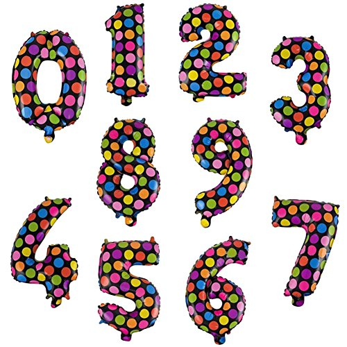 Hosaire 10Pcs Number Balloons