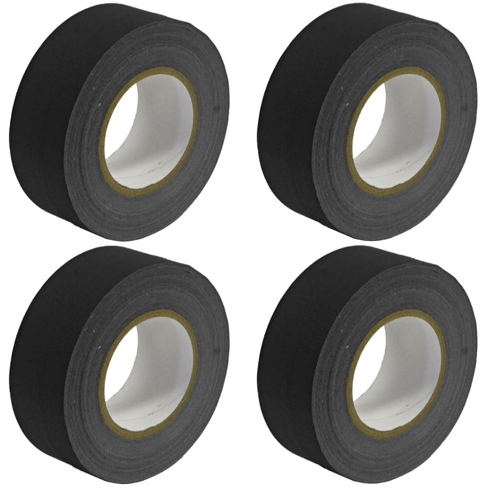 Seismic Audio - SeismicTape-Black602-4Pack - 4 Pack of 2 Inch Black Gaffer's Tape - 60 yards per Roll by Seismic Audio