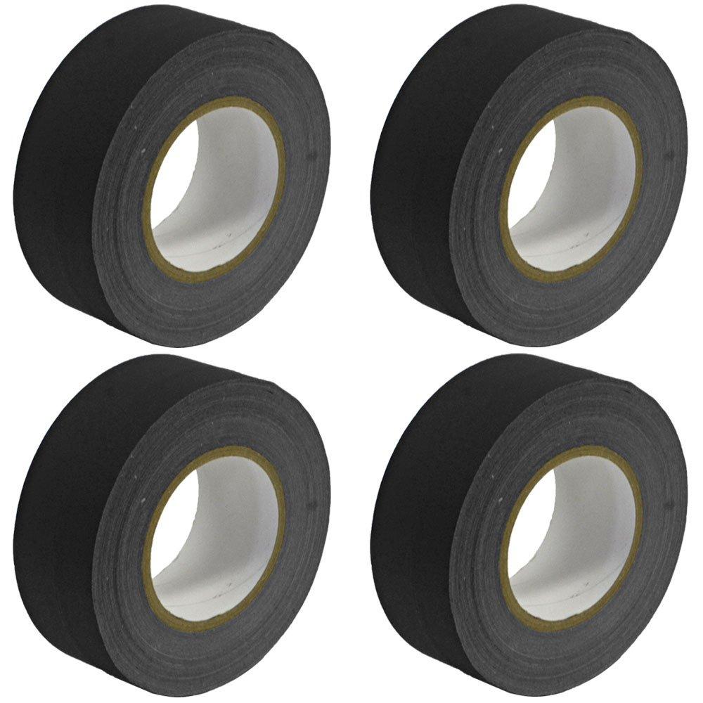 Seismic Audio - SeismicTape-Black602-4Pack - 4 Pack of 2 Inch Black Gaffer's Tape - 60 yards per Roll