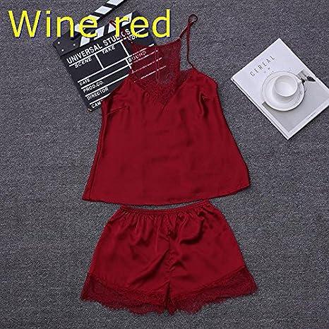 c5397341b232 Amazon.com  Blue Stones Luxury Imitation Satin Women Short Pajama ...