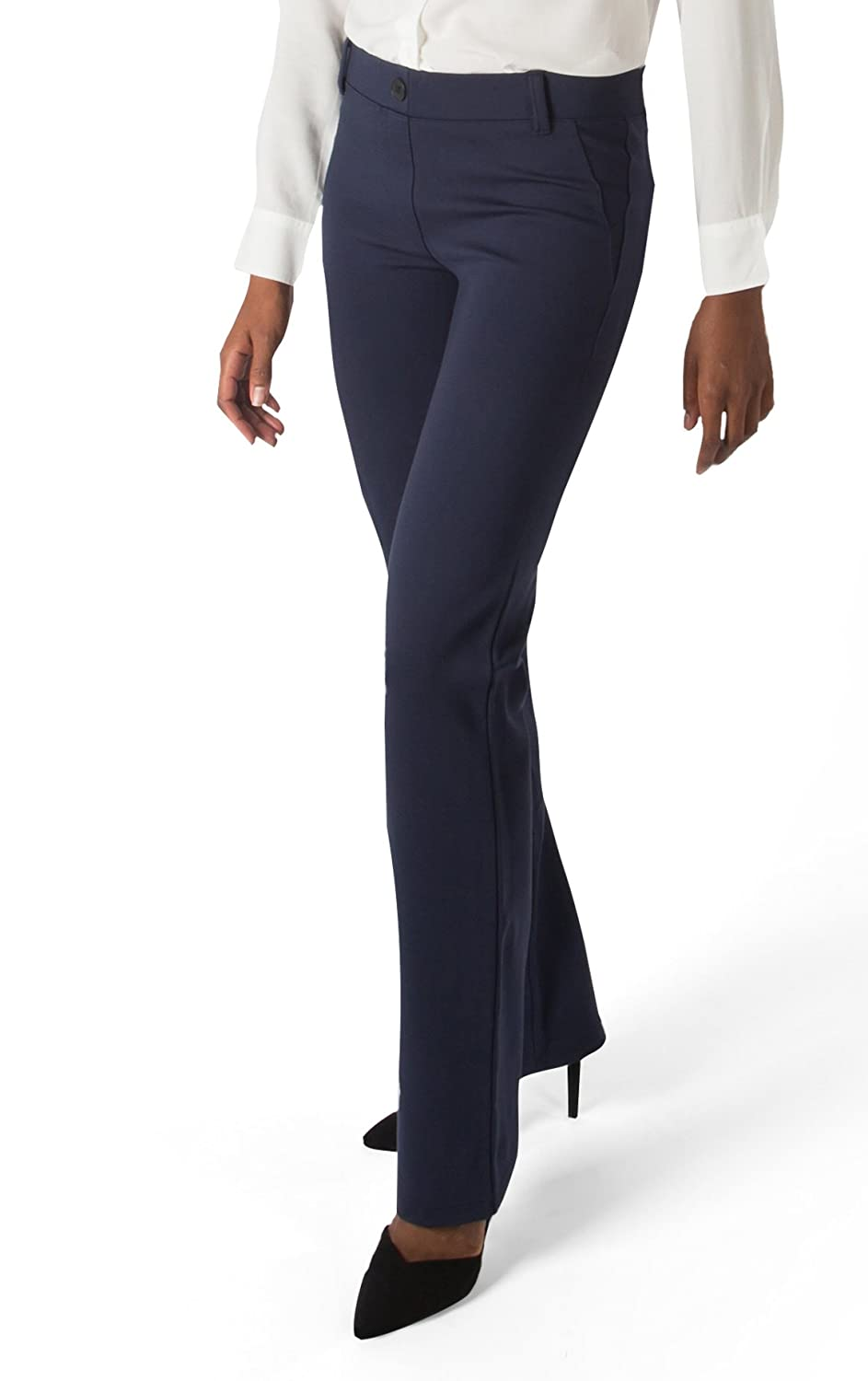 6fb4619a05 Betabrand Women's Dress Pant Yoga Pants (Straight-Leg) L Navy: Amazon.ca:  Clothing & Accessories