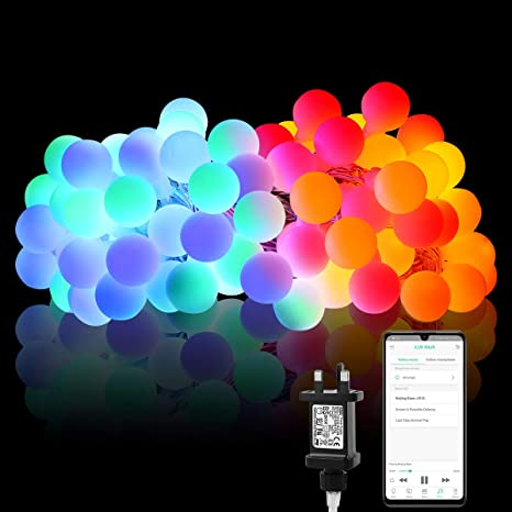 competitive price 90a0f 765f0 iLUX 10m Smart Festoon Lights, Bluetooth and APP Control LED ...