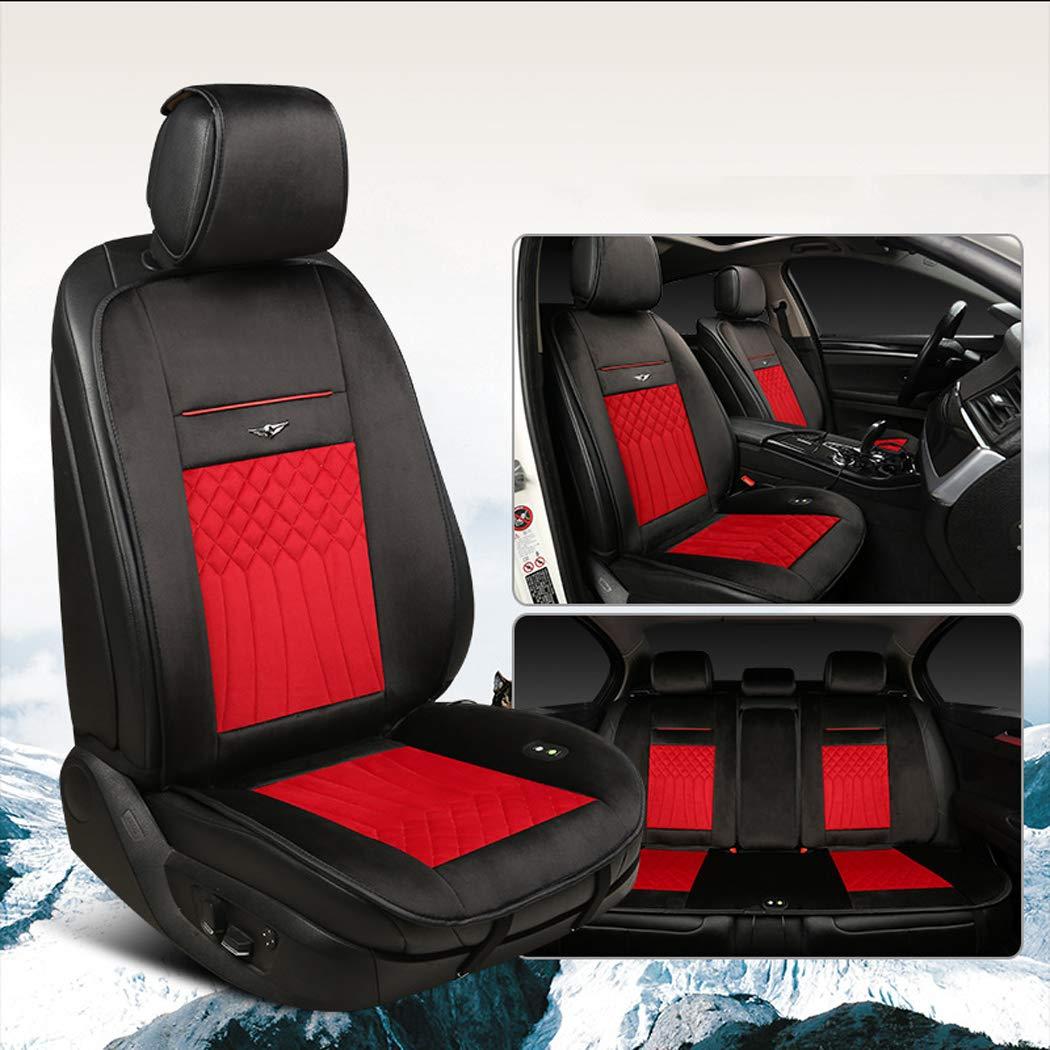 LanPerro Auto-Sitzheizung 12V 24V Winter-Auto-Sitzw/ärmer Abdeckung Winter-Reise Warm Cozy Heizkissen Mit Premium-Zigarettenanz/ünder-Stecker F/ür Auto-Universal,No1