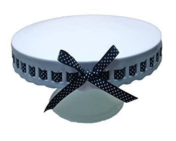 Gracie China by Coastline Imports 12-Inch Round Porcelain Skirted Cake Stand Black and  sc 1 st  Amazon.com & Amazon.com | Gracie China by Coastline Imports 12-Inch Round ...