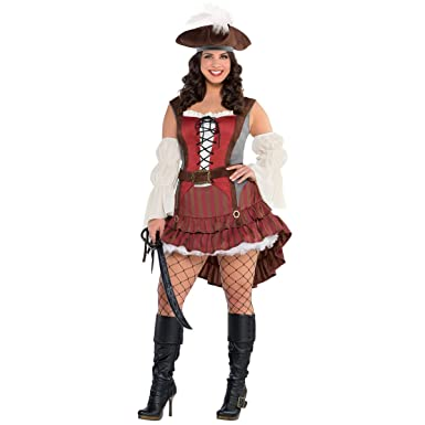Castaway Pirate Costume - Plus Size 2X - Dress Size 18-20  sc 1 st  Amazon.com & Amazon.com: Castaway Pirate Costume - Plus Size 2X - Dress Size 18 ...