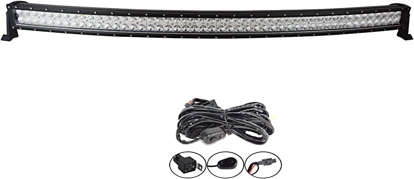 Curved 52inch 300W LED Work Light Bar Combo Truck Offroad For Jeep SUV Boat UTE