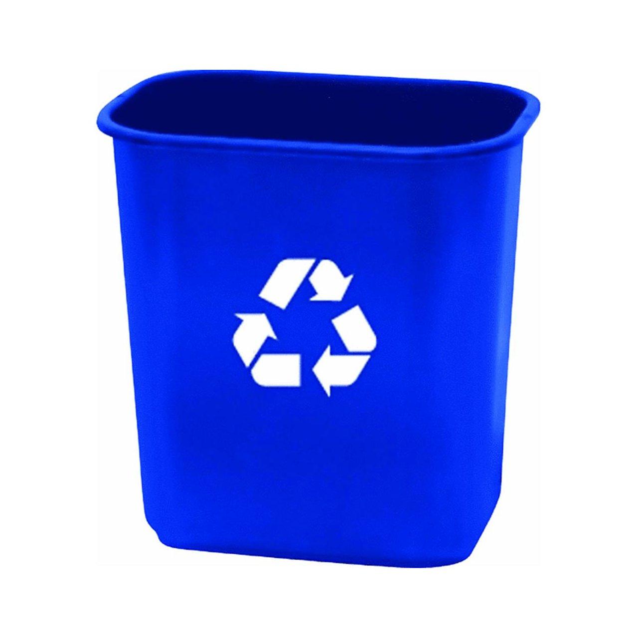 United Solutions EcoSense WB0084 Blue Twenty Eight Quart Recycling  Wastebasket   28QT Recycling Bin In Blue
