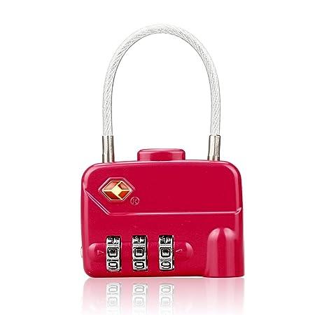 db78e367aa1b LOHOME TSA Approved Luggage Locks - 3 Digit Combination Cable ...