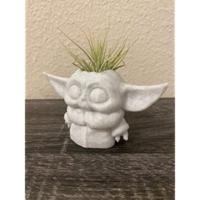 Planter | Yoda Baby Gifts in 3D | Decorate Star Wars Tables, Baby Yoda Planter Marble : Garden & Outdoor