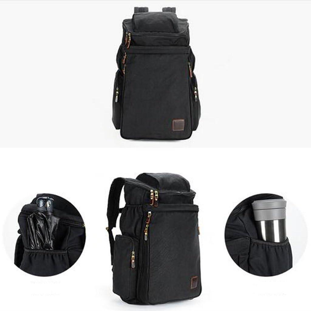 AMOS Sacchetto di spalla del sacchetto di corsa del sacchetto di corsa della tela di canapa del sacchetto di spalla della borsa degli uomini Nero