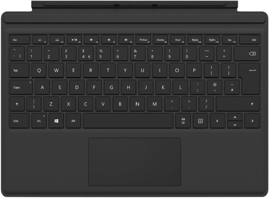 مايكروسوفت اف ام ان -00001 غطاء لوحة مفاتيح سيرفس برو تايب، انجليزي لاجهزة سيرفس برو 3، 4، 5،6 و7 - اسود