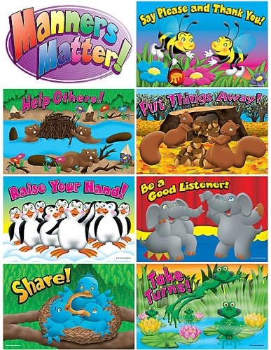 (Teacher Created Resources Manners Bulletin Board Display Set)